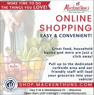 Online Shopping Easy & Convenient!
