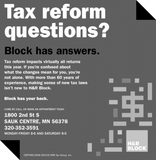 Tax Reform Questions?