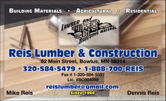 Lumber and Builoding Material