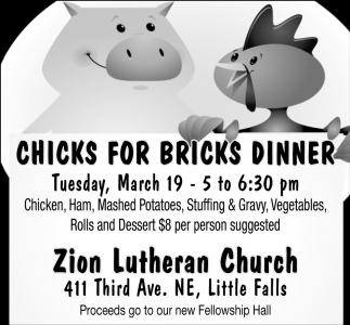 Chicks for Bricks Dinner