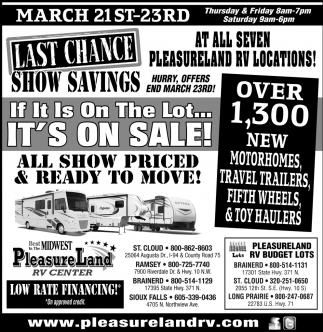 Low Rate Financing!