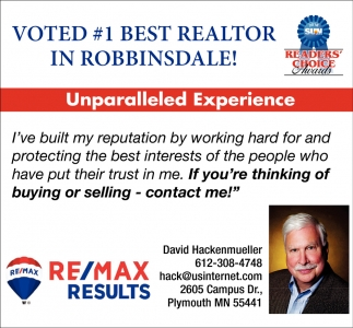 Voted #1 Best Realtor in Robbinsdale!