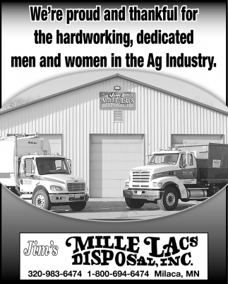 We've Proud and Thankful for the Hardworking, Dedicated Men and Women in the Ag Industry