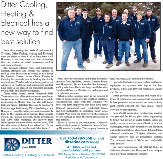 Ditter Cooling, Heating & Electrical Has a New Way to Find Best Solution
