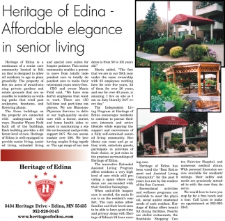Heritage of Edina - Affordable Elegance in Senior Living