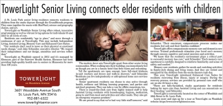 TowerLight Senior Living Connects Elder Residents with Children