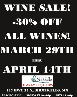 Wine Sale!