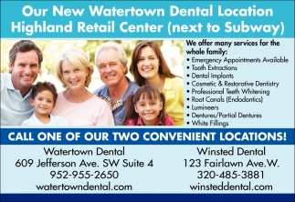 Call One of Our Two Convenient Locations!