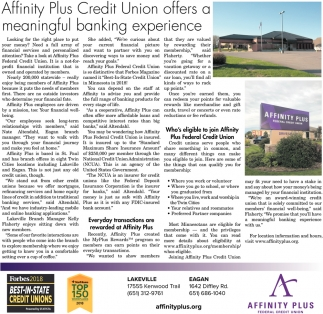 Affinity Plus Credit Union Offers a Meaningful Banking Experience