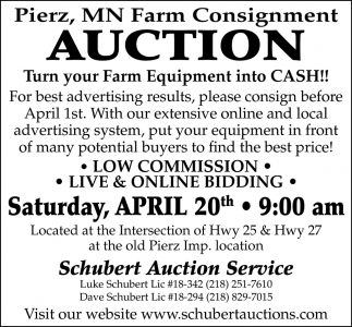 Farms Consignment Auction