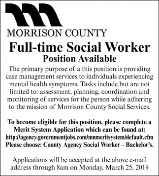 Full-time Social Worker