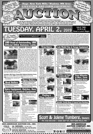 Livestock & Farm Equipment Auction
