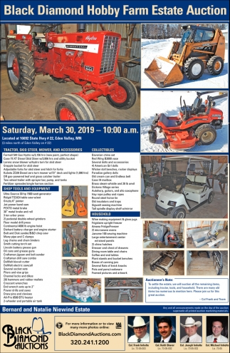 Black Diamond Hobby Farm Estate Auction