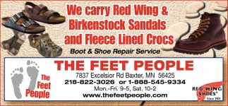 We Carry Red Wing & Birkenstock Sandals and Fleece Lined Crocs