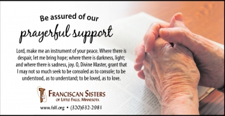 Be Assured of Our Prayerful Support