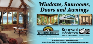 Windows, Sunrooms, Doors and Awnings