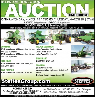 Inventory Reduction Auction