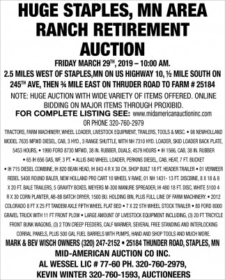 Ranch Retirement Auction