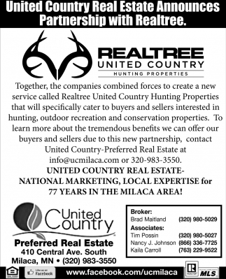 United Country Real Estate Announces Partnership with Realtree