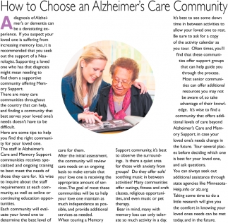 How to Choose an Alzheimer's Care Community