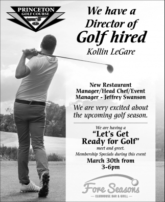 We Have a Director of Golf Hired