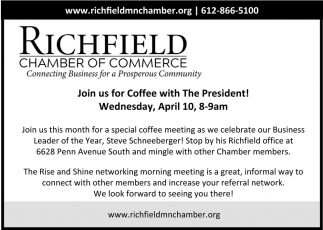 Join Us for Coffee with the President!