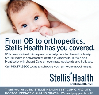 From OB to Orthopedics, Stellis Health has You Covered