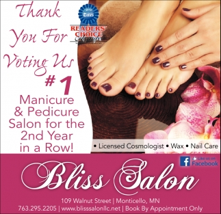 Thank You for Voting Us #1 Manicure & Pedicure Salon for the 2nd Year in a Row!