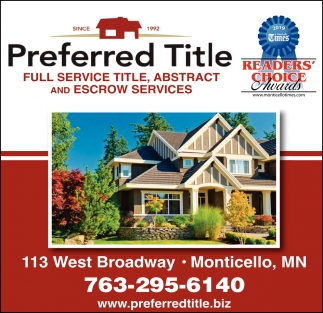 Full Service Title, Abstract and Escrow Services