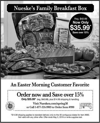 An Easter Morning Customer Favorite