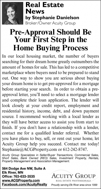 Pre-Approval Should Be Your First Step in the Home Buying Process