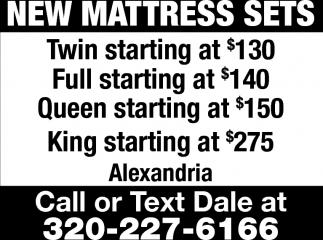 New Mattresses Sets