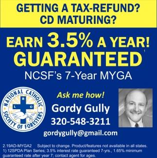 Earn 3.5% A Year!