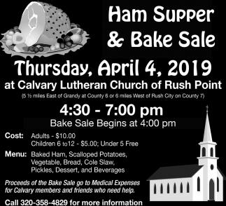 Ham Supper & Bake Sale