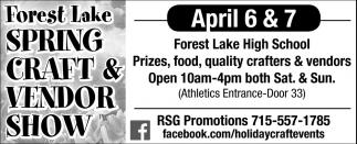 Forest Lake Spring Craft & Vendor Show 2019