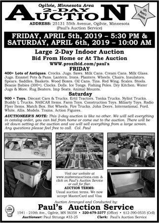 Minnesota Area 2-Day Auction