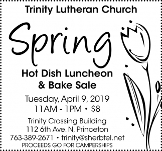 Spring Hot Dish Luncheon & Bake Sale