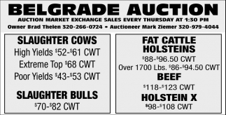 Auction Market Exchange Sales Every Thursday