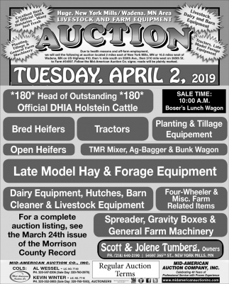 Livestock and Farm Equipment Auction