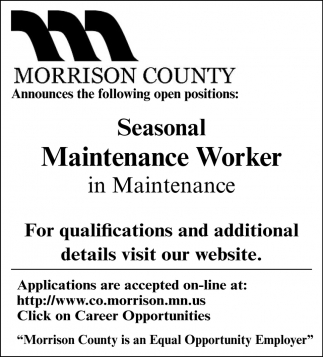 Seasonal Maintenance Worker