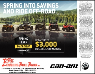 Spring Into Savings and ride Off-Road