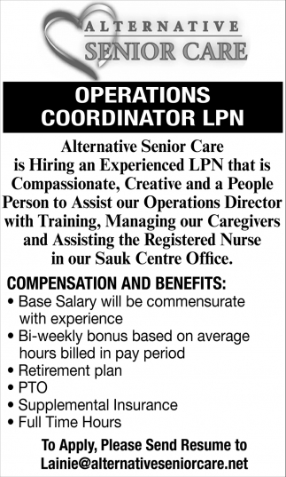 Operations Coordinator LPN