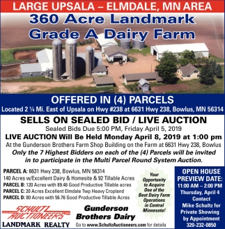 360 Acre Landmark Grade A Dairy Farm