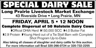 Special Dairy Sales