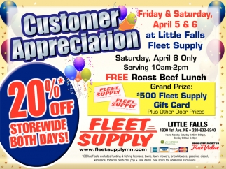Customer Appreciation at Little Falls Fleet Supply