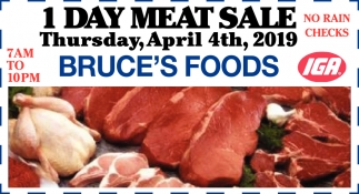 1 Day Meat Sale