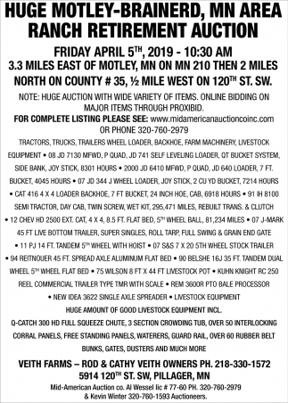 Huge Motley-Brainerd, MN Area Ranch Retirement Auction
