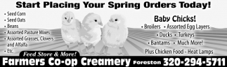 Start Placing Your Spring Orders Today!