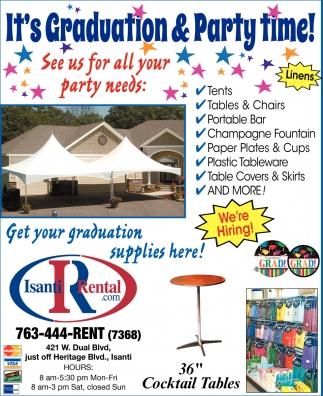 It's Graduation & Party Time!