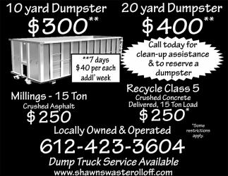 Dump Truck Service Available